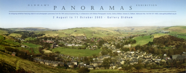 poster: Oldham's Panoramas Exhibition by John Widdall