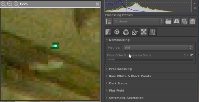 ahd hot pixel