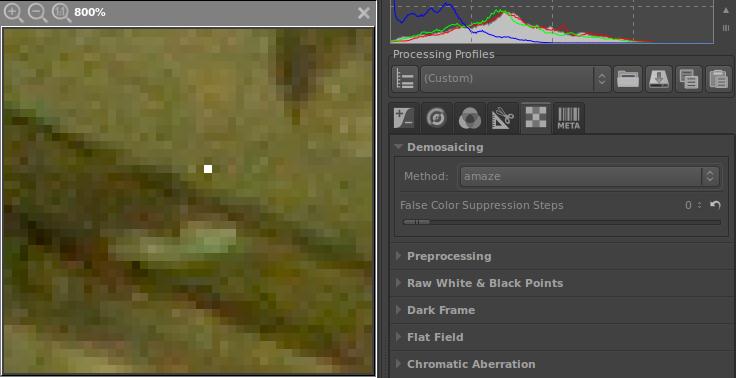 amaze hot pixel