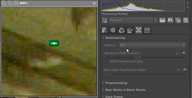 dcb hot pixel